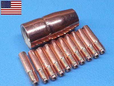 000068 0.035 Tips 12 Mig Nozzle 169-715 169715 For Miller M10 M15 Mig Gun