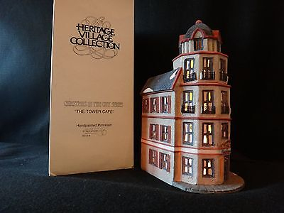 """Dept 56 Christmas in the City """"The Tower Cafe"""" retired 1990"""