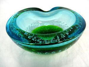 Beautiful-Barovier-Toso-Murano-glass-bowl-Schone-Glas-Schale-Italy-16-5-cm