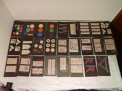 26 Karten Karte MEZ Garne Garn Bildkärtchen Bildkarten Handarbeit Nähen Sticken