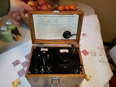 Vintage Leeds And Northrup Potentiometer Dovetail Quarter Sawn Oak Box