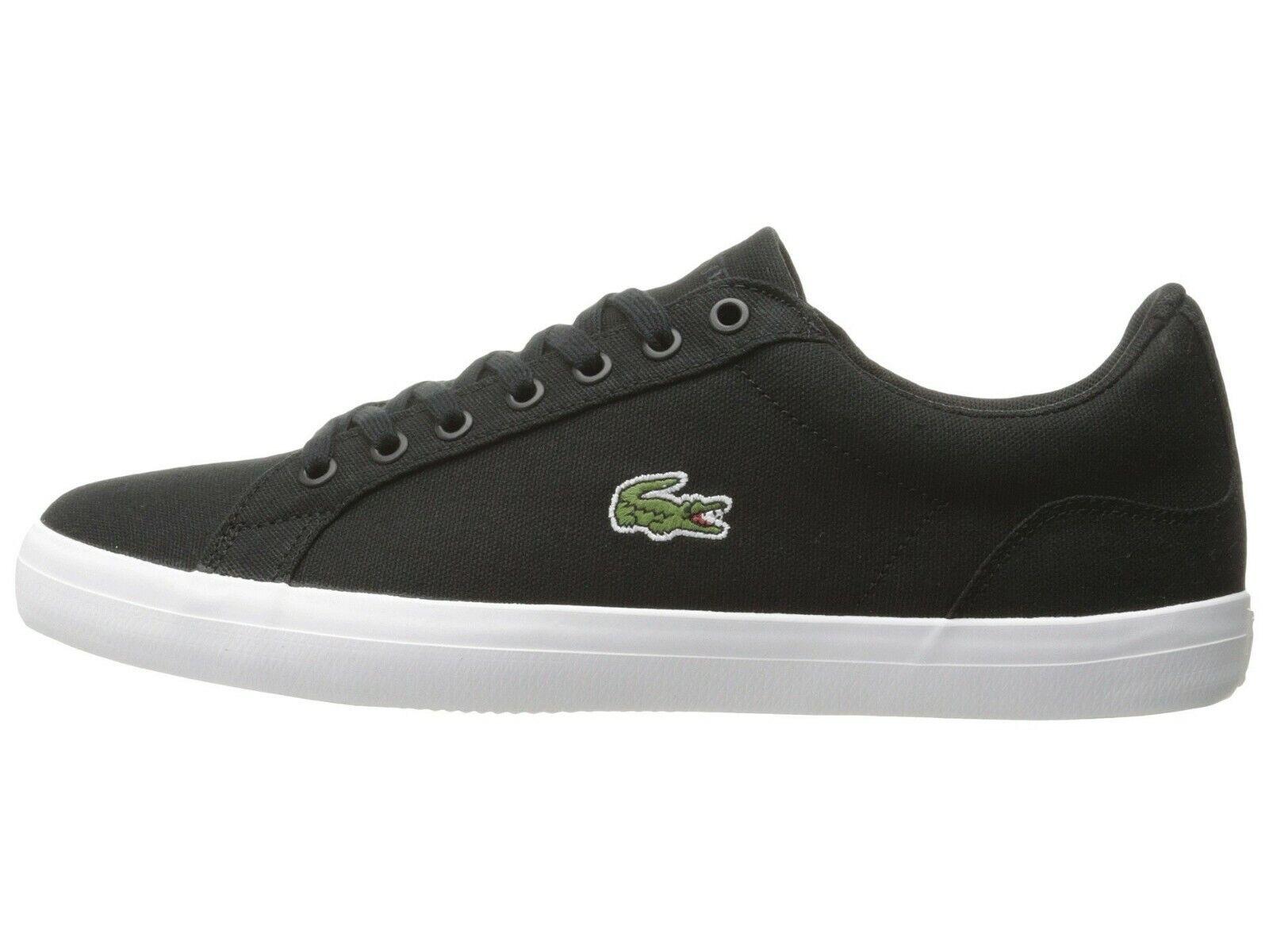 LACOSTE Lerond BL 2 Men's Croc Logo Casual Slip On Loafer shoes Sneakers Black