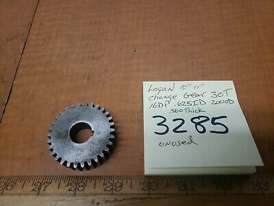 Logan Lathe 10 Change Gear 30t .625id 16dp 2.00od