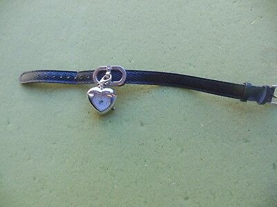 Womens LGP quartz watch with dangling heart and leather strap for sale  Glendale