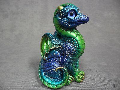 Windstone Editions * Emerald Peacock Baby Dragon * Figure Statue Fantasy Magic