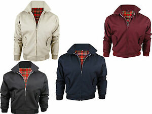 MENS-CLASSIC-VINTAGE-RETRO-BOMBER-HARRINGTON-TRENDY-JACKET-S-M-L-XL-XXL-XXXL