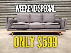 3 seater Sofa ( Gunmetal Grey) Granville Parramatta Area Preview