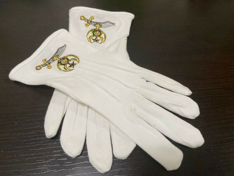 Shriners EMBROIDERED Noble Gloves AEAONMS