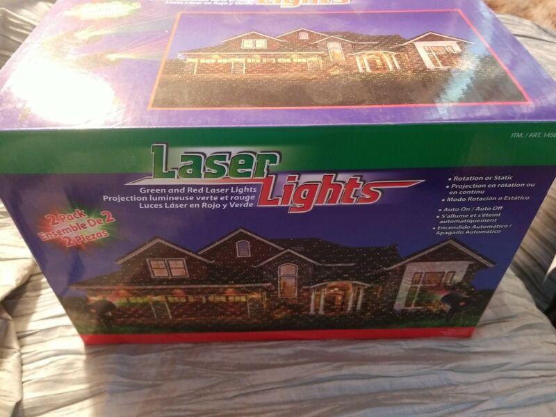 Wisely Green & Red Laser Lights 2-Pack Tested and Working  Complete in box