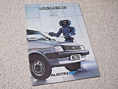 1980's AUSTIN MINI METRO (UK) SALES BROCHURE...