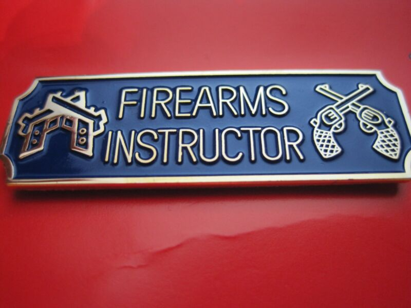 FIREARMS INSTRUCTOR COMMENDATION AWARD METAL PIN POLICE SHERIFF BLACK or NAVY*