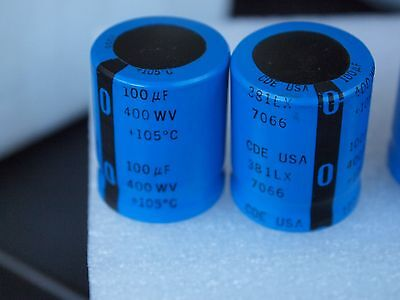 2x Cde100uf 400v Capacitors For Western Electric 300b 2a3 45 El84 Tube Amplifier