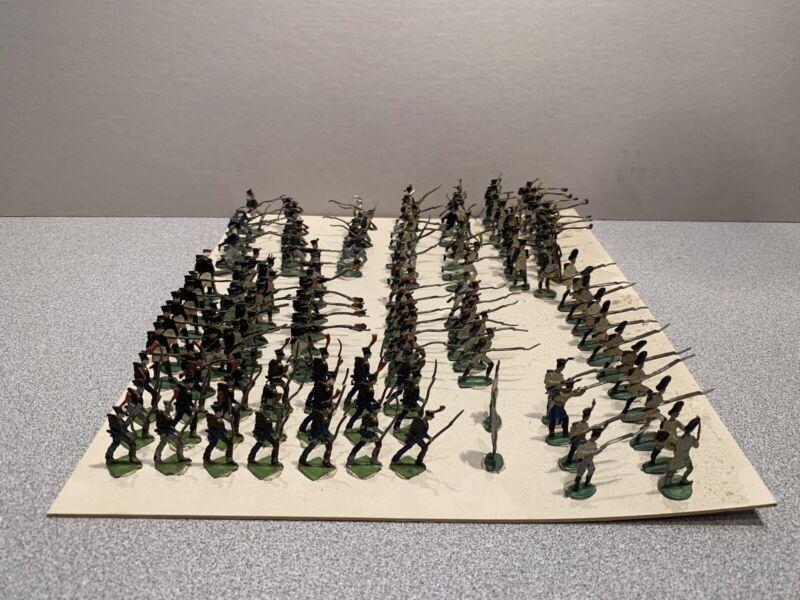Zinnfiguren Flachfiguren Flat Tin, Lot of 125 Infantry Soldier First Empire