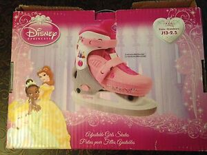 DISNEY PRINCESS  ADJUSTABLE GIRLS SKATES  (SIZE 13-2.5)