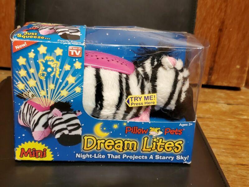 Zippity Zebra Dream Lites Pillow Pets Mini Night-Lite NIP