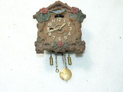 Vintage AUGUST C. KEEBLER Miniature Novelty Bluebird Cuckoo Wall Clock Parts/Rep
