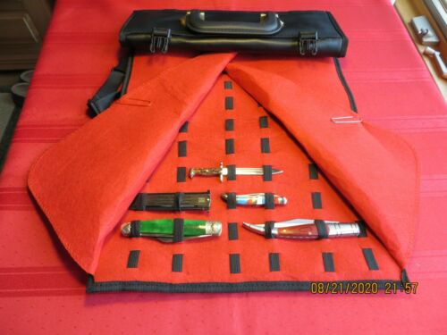COLLECTORS KNIFE ROLL  HOLDS UP TO 50 KNIVES  CLOSEOUT NEW LOW PRICE