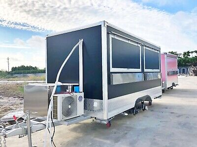 15ft Box Mobile Food Cart Trailer - Made To Order Stainless Steel Custom Truck