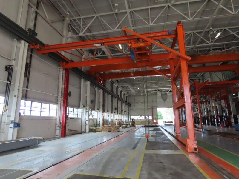 CES Weco Shepard Niles 10 Ton Single Leg Motorized Gantry Bridge Crane 35