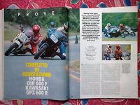 Motociclismo 1987 Confronto Tra Honda Cbr 600 F & Kawasaki Gpz 600 R - Epoca - - honda - ebay.it