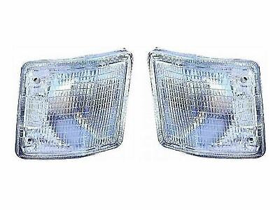 LH/RH Side 2pc Front Clear Indicator Lamp Pair for VW Transporter T2 (79-92)