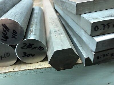 1-58 1.625 X 5 Long New 304 Stainless Steel Hex Bar