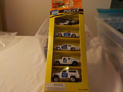 Matchbox Police 5 Pack White camaro humvee helicopter blazer 1995 bin 5