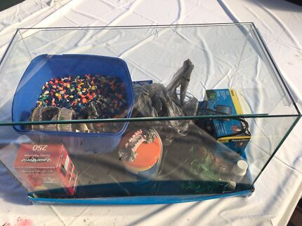 FISH TANK and ALL ACCESSORIES EXC. Cond.