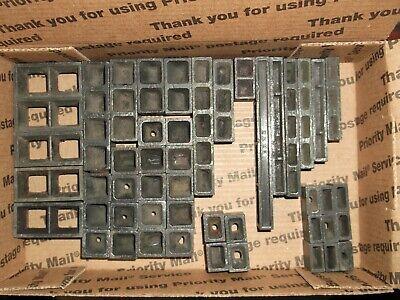 50 Piece Assorted Lead Furniture Spacing Kit Printing Press Kelsey Letterpress