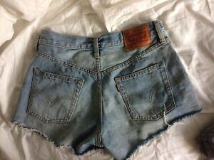 Levi's high waisted jean shorts 501 (xs)