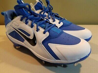 df2719e31 Nike Alpha Huarache Elite Low Mens Blue White Baseball Cleats SZ 11.5 AH7524 -400