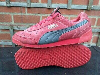 Puma Trimm Quick Trainers - Men's Size UK 6 / EU 39 - Red Suede