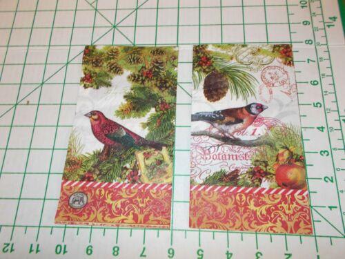 "Two Decorative Hostess Napkins for Decoupage ""Christmastime"""