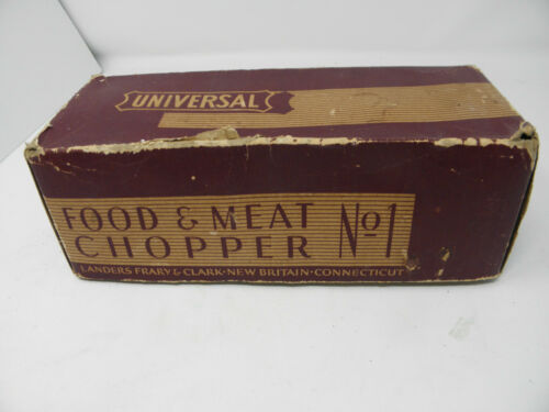 Universal FOOD AND MEAT CHOPPER GRINDER No. 1 with BOX