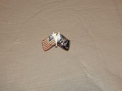 USA Flagge US Nl'02 Marine Regierung Anker Vintage Militär Pin Tie Tac Anstecker Regierung Marine