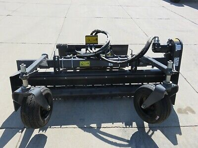 Paladin Harley 72 Skid Steer Loader Hydraulic Angle Power Box Rake Attachment