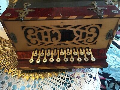 Antique Button Box Accordion