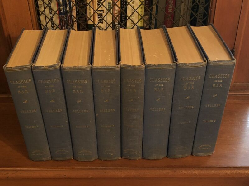 CLASSICS OF THE BAR 8 VOLUME SET BY ALVIN SELLERS VINTAGE 1942
