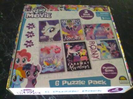 Childrens My Little Pony The Movie 6 Puzzle Pack - BRAND NEW