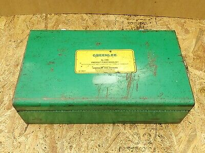 Greenlee 7306 Hydraulic Knockout Punch Driver Set W Punches Dies - Good Cond