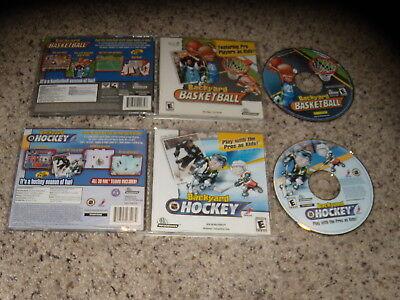 Backyard Hockey & Backyard Basketball PC Games Perfect Working Condition ()