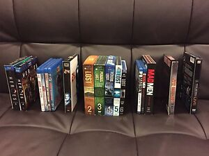 Box set DVD and Blu-ray's. Lost, Dexter, heroes, madmen