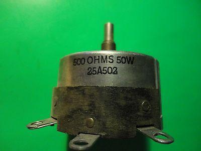 1pc Irc 500 Ohm-50watt Power W.w. Rheostat