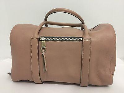 NEW CHLOE Madeleine Taupe Leather Gold Tone Zip Handbag