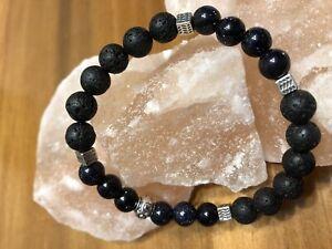 Beautifully Handcrafted Sandstone/Lava Bracelet