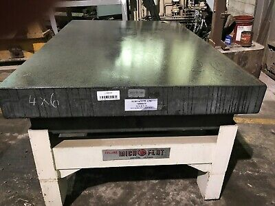 Granite Surface Plate 4 X 6 X 6 With Heavy Metal Stand