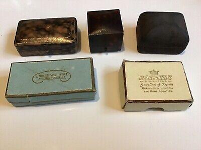 Vintage Jewellery Display Boxes x5