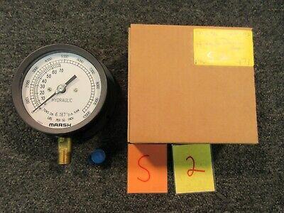 Marsh Bellofram 10000 Psi Hydraulic Fluid Pressure Gauge Dail Indicator H15690