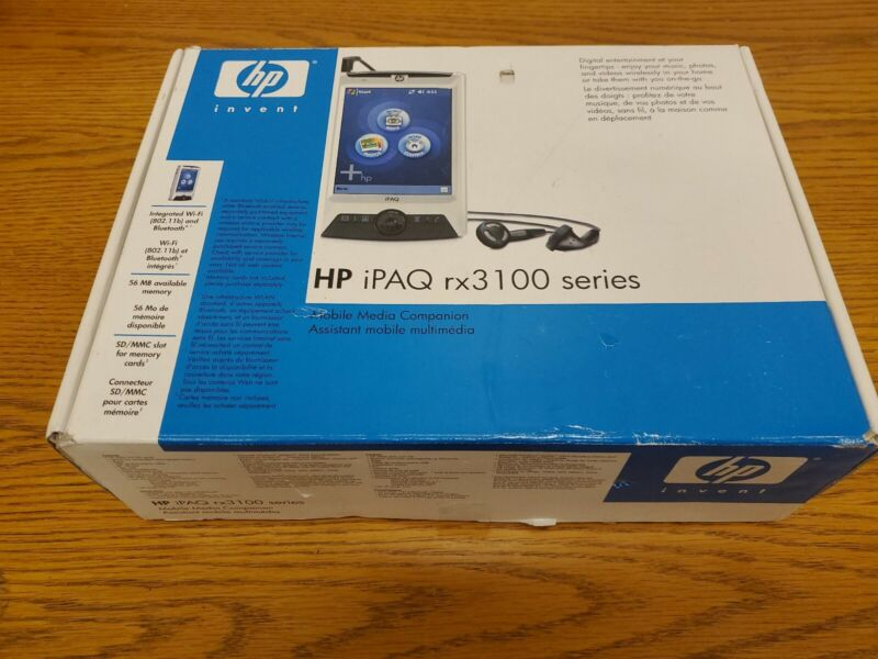 HP iPAQ rx 3100 Series Mobile Media Companion in Box see description