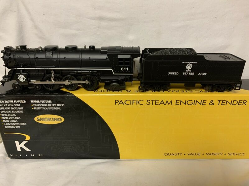 ✅K-LINE BY LIONEL US ARMY PACIFIC STEAM ENGINE! FOR O GAUGE SET UNITED STATES